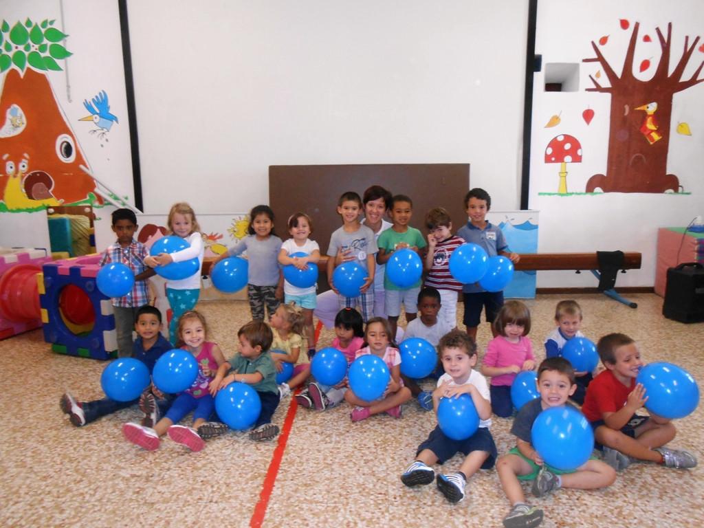 blu palloncini
